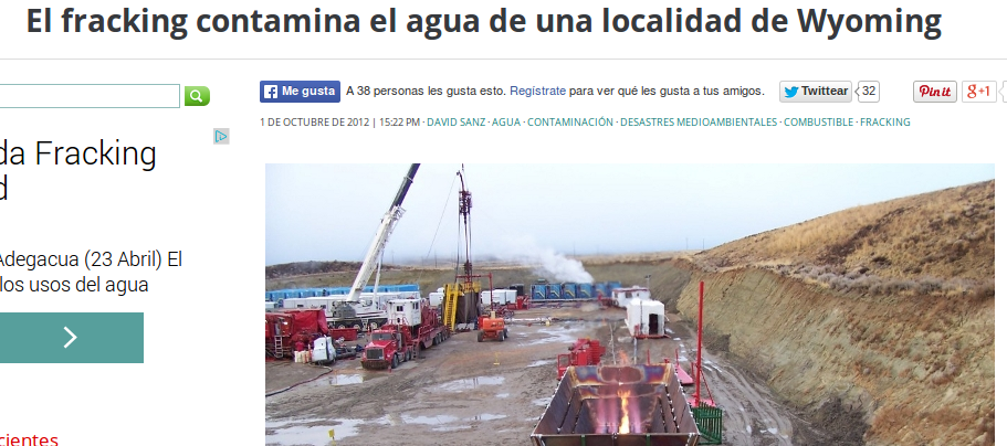 fracking contamina agua pueblo en wyoming