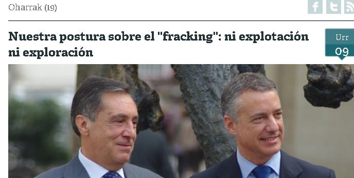 pnv elecciones fracking