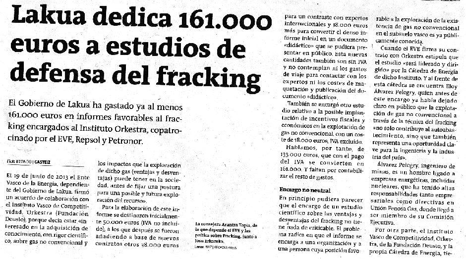 Lakua apoya fracking1