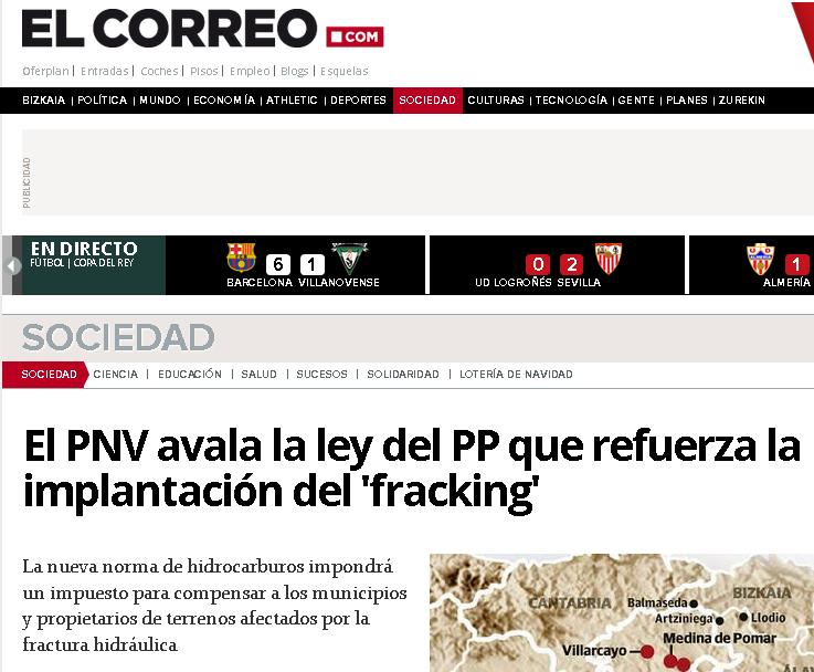 PNV fracking Madrid