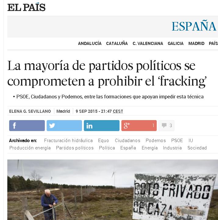 ciudadanos fracking Madrid